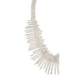 BCBGMAXAZRIA - White Art Deco Pave Necklace - Lyst