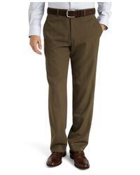 Brooks Brothers | Green Regent Fit Plain-front Classic Gabardine Trousers for Men | Lyst