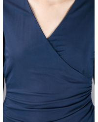Burberry | Blue Vneck Dress | Lyst