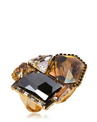 Erickson Beamon | Metallic Xenon Double Ring | Lyst