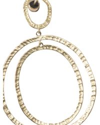 Ileana Makri | Metallic Yellow-Gold Again Hoop Earrings | Lyst