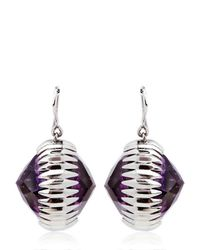 Katie Rowland | Black Ishtar Orb Amethyst Earrings | Lyst