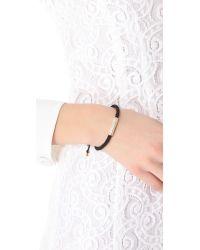Michael Kors   Black Pave Macrame Bracelet   Lyst