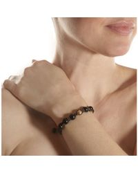 Shamballa Jewels - Black Wood Rose Gold Diamond Bead Bracelet - Lyst