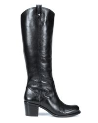 Jessica Simpson - Black Tall Leather Boots - Lyst