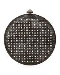 Overture Judith Leiber - Black April Circle Minaudiere - Lyst