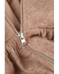 TOPSHOP Natural Paisley Lace Corset Tunic