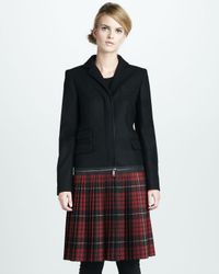 McQ | Black Tartan-Sweep Crombie Coat | Lyst
