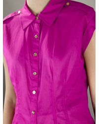 Tory Burch | Purple Button Down Shirt | Lyst