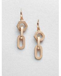 Marc By Marc Jacobs - Pink Mini Link Nut Drop Earrings - Lyst