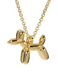 Ted Baker - Metallic Balloon Dog Pendant Necklace - Lyst