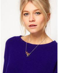 Ted Baker | Metallic Jigsaw Pendant Necklace | Lyst
