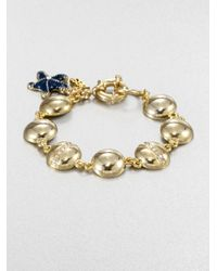 ABS By Allen Schwartz | Metallic Enamel Starfish Charm Bracelet | Lyst