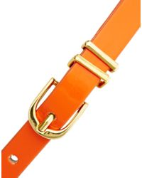 ASOS Orange Metal Keeper Super Skinny Waist Belt