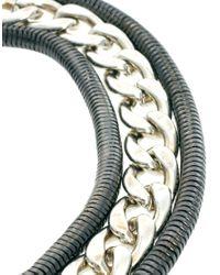 ASOS - Metallic Double Chain Bracelet - Lyst