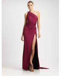 Emilio Pucci Purple Oneshoulder Gown