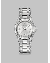 Fendi - Metallic Round Stainless Steel Date-function Watch - Lyst