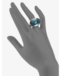 Ippolita | Blue Indigo Doublet Sterling Silver Oval Ring | Lyst