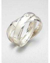 John Hardy - Metallic Sterling Silver Interlocking Bracelet - Lyst