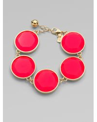 kate spade new york - Pink Faceted Stone Bracelet - Lyst