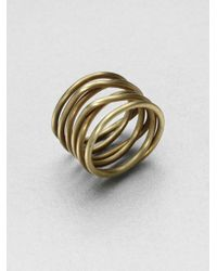 Kelly Wearstler | Metallic Twisted Ring | Lyst