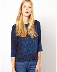Whistles - Blue Summer Shower Top - Lyst
