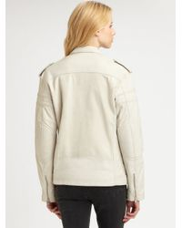BLK DNM | White Motorcycle Leather Jacket | Lyst