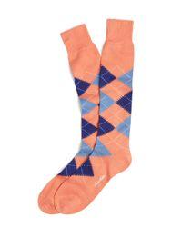 Brooks Brothers - Blue Argyle Overthecalf Socks for Men - Lyst