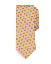 Brooks Brothers | Orange Sea Turtle Print Tie for Men | Lyst