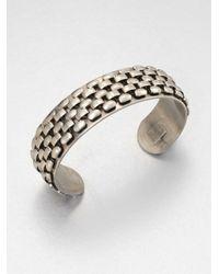 DANNIJO - Metallic Cobblestone Silver Cuff Bracelet - Lyst