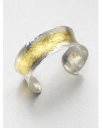 Gurhan - Metallic Sterling Silver 24k Gold Cuff Bracelet - Lyst