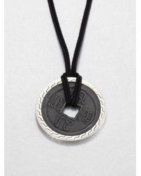 John Hardy | Metallic Sterling Silver Coin Pendant Necklace | Lyst