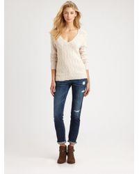 Joie | White Aleyda Slub Knit Sweater | Lyst