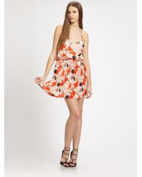 Parker - Multicolor Racer Pleat Dress - Lyst