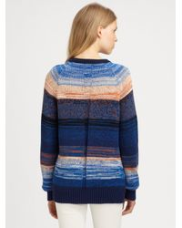 Proenza Schouler Orange Melange Knit Pullover