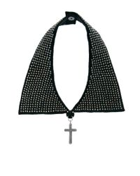 ASOS - Black Beaded Collar Cross Necklace - Lyst