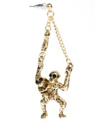 ASOS - Metallic Monkey Earrings - Lyst