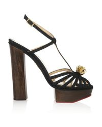 Charlotte Olympia - Black Rio Woven Canvas Sandals - Lyst