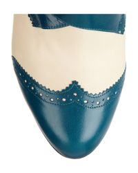 Charlotte Olympia Blue Poirot Leather Boots