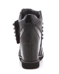 Jeffrey Campbell Black Teramo Wedge Sneakers