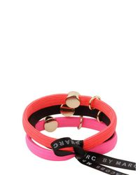 Marc By Marc Jacobs | Purple Classic Marc Cluster Pony Hair Elastics | Lyst