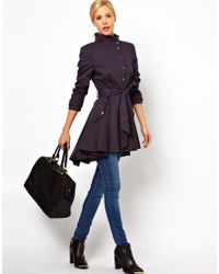 ASOS Collection Purple Asos Popper Front Fit and Flare Mac