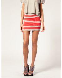 ASOS Collection - White Asos Contrast Panel Mini Skirt - Lyst