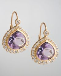 Jamie Wolf | Metallic Bisou Diamond Edge Amethyst Drop Earrings | Lyst