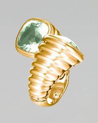 John Hardy | Metallic Gold Bedeg Green Amethyst Bypass Ring | Lyst