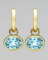 Kiki McDonough | 18k Gold Eternal Blue Topaz Drop Earrings | Lyst