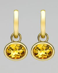 Kiki McDonough | Yellow 18k Gold Eternal Citrine Drop Earrings | Lyst