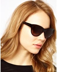 Marc By Marc Jacobs Brown Dark Havana Cat Eye Frame Sunglasses
