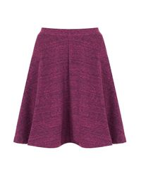 TOPSHOP Purple Speckle Skater Skirt