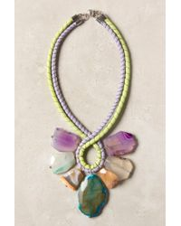 Anthropologie | Green Seven Stones Necklace | Lyst